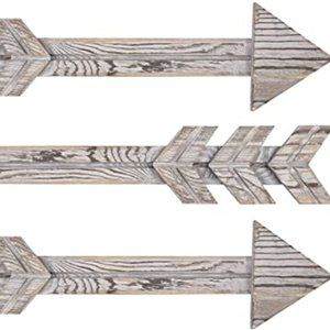 Rustic Wood Arrow Decor, Set of 3 Rustic Arrow